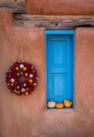 Shuttered Window and Gourds - Taos